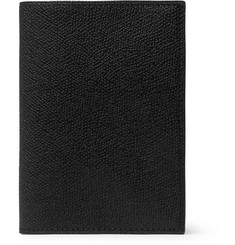 Valextra Pebble-Grain Leather Passport Cover