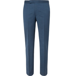 Richard James Navy Hyde Slim-Fit Super 130s Virgin Wool Suit Trousers