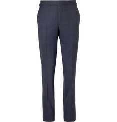 Richard James Indigo Hyde Slim-Fit Mélange Wool Suit Trousers