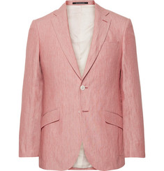 Richard James Coral Seishen Slim-Fit Linen Suit Jacket