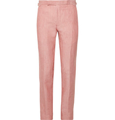 Richard James Coral Hyde Slim-Fit Linen Suit Trousers