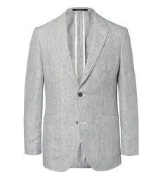 Richard James - Indigo Spirit Pinstriped Linen Blazer