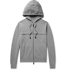Berluti - Leather-Trimmed Knitted Zip-Up Hoodie