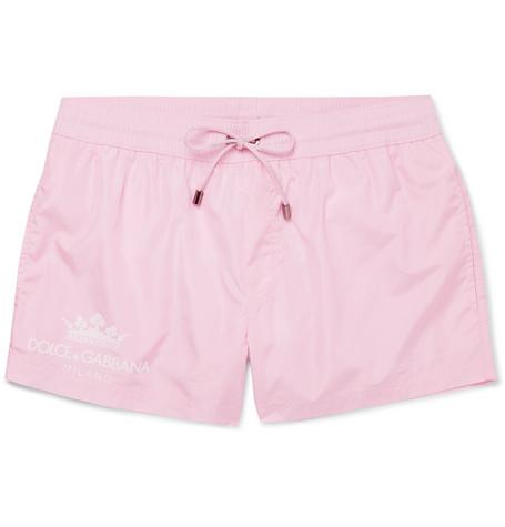 d16426eb237cc Dolce   Gabbana - Logo-Print Short-Length Swim Shorts