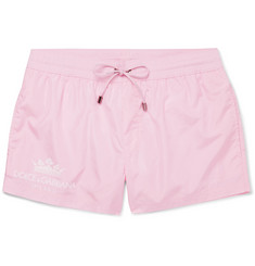Dolce & Gabbana - Logo-Print Short-Length Swim Shorts