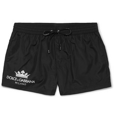 Dolce & Gabbana Logo-Print Short-Length Swim Shorts