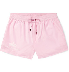 Dolce & Gabbana - Short-Length Logo-Print Swim Shorts