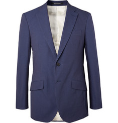 Richard James Navy Sheisen Slim-Fit Cotton-Seersucker Suit Jacket