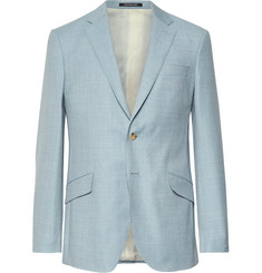 Richard James - Light-Blue Seishin Slim-Fit Mélange Wool-Hopsack Suit Jacket