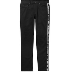 Givenchy Slim-Fit Logo-Jacquard Denim Jeans