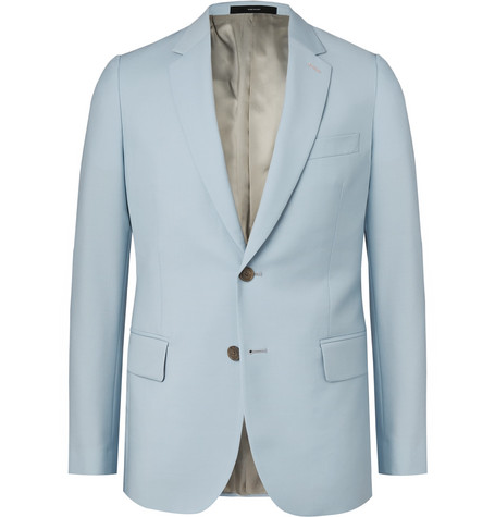 PAUL SMITH | Paul Smith - Light-blue Soho Slim-fit Wool And Mohair-blend Suit Jacket - Light blue | Goxip