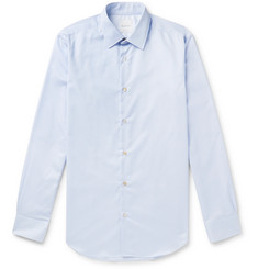 Paul Smith Light-Blue Soho Slim-Fit Pinstriped Cotton-Poplin Shirt