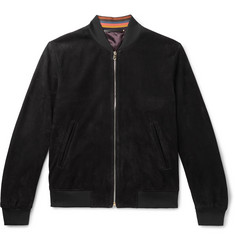 Paul Smith Slim-Fit Suede Bomber Jacket
