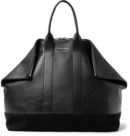 Alexander McQueen – De Manta Leather And Suede Tote Bag – Black