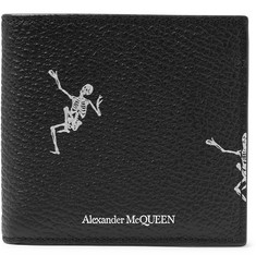 Alexander McQueen Printed Full-Grain Billfold Wallet
