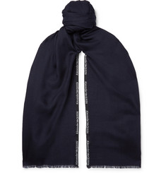 Alexander McQueen - Logo-Embroidered Cashmere and Silk-Blend Jacquard Scarf