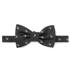 Alexander McQueen - Pre-Tied Skull and Polka-Dot Jacquard Silk-Twill Bow Tie
