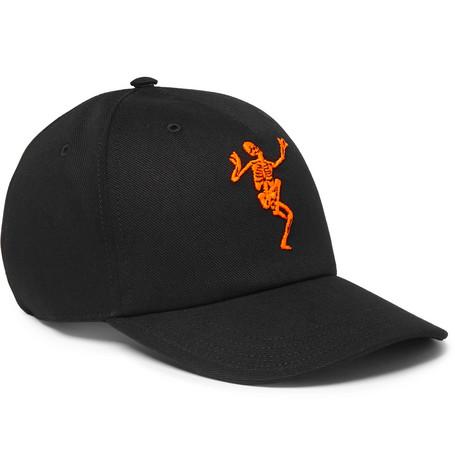 Alexander McQueen – Embroidered Cotton-twill Baseball Cap – Black
