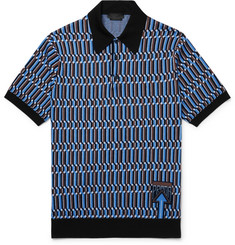 Prada Wool-Jacquard Polo Shirt