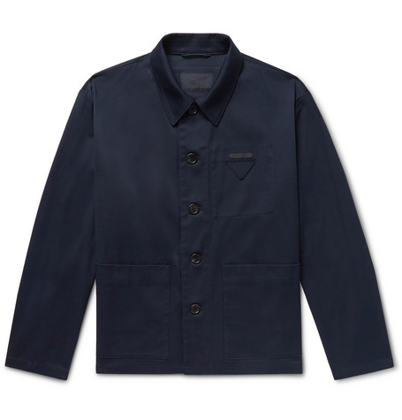 Cotton Twill Chore Jacket by Prada