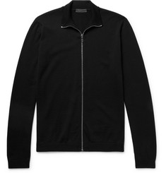 Prada - Slim-Fit Virgin Wool Zip-Up Cardigan