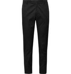 Prada Black Slim-Fit Tapered Stretch-Cotton Gabardine Trousers
