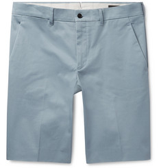 Prada Slim-Fit Stretch-Cotton Twill Bermuda Shorts
