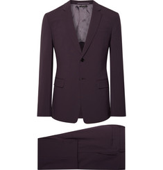 Prada Dark-Purple Tela Slim-Fit Stretch Virgin Wool Suit