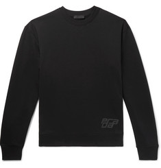 Prada Logo-Appliquéd Loopback Cotton-Jersey Sweatshirt