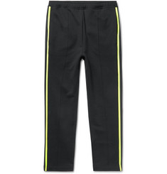 Prada - Slim-Fit Striped Loopback Cotton-Jersey Sweatpants