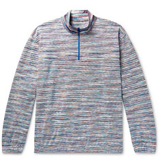 Missoni Space-Dyed Cotton Half-Zip Sweater