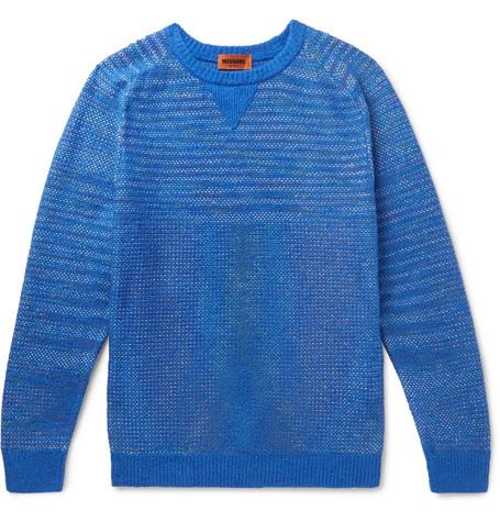 MISSONI | Missoni - Cotton-blend Sweater - Blue | Goxip