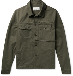 Maison Margiela Slim-Fit Distressed Cotton-Twill Overshirt
