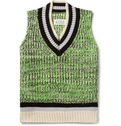 Maison Margiela - Mélange Cotton-Blend Sweater Vest