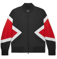 Neil Barrett Colour-Block Cotton-Blend Bomber Jacket
