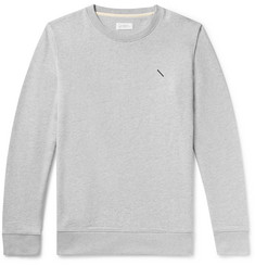 Saturdays NYC Embroidered Mélange Loopback Cotton-Jersey Sweatshirt