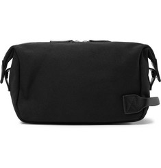 Saturdays NYC Leather-Trimmed Canvas Wash Bag