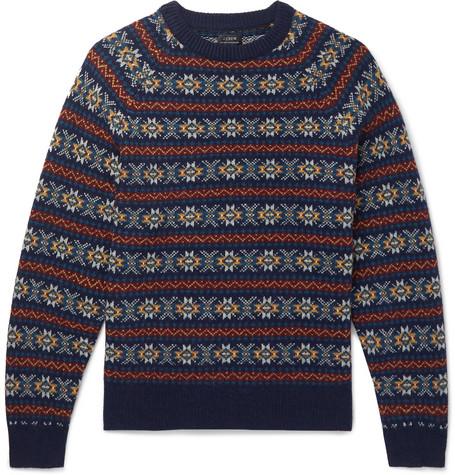 Fair Isle Wool Sweater by J.Crew