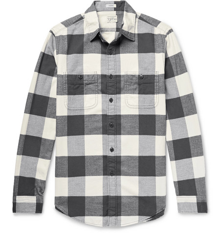 Checked Cotton Flannel Shirt by J.Crew