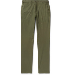 Incotex Slim-Fit Stretch-Cotton Poplin Drawstring Trousers
