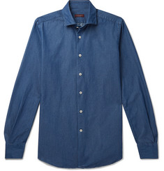Incotex Fellini Slim-Fit Cotton-Chambray Shirt