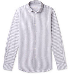 Incotex Fellini Slim-Fit Striped Cotton Shirt