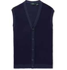 Incotex - Slim-Fit Waffle-Knit Sweater Vest