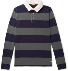 Armor Lux Striped Cotton-Jersey Polo Shirt