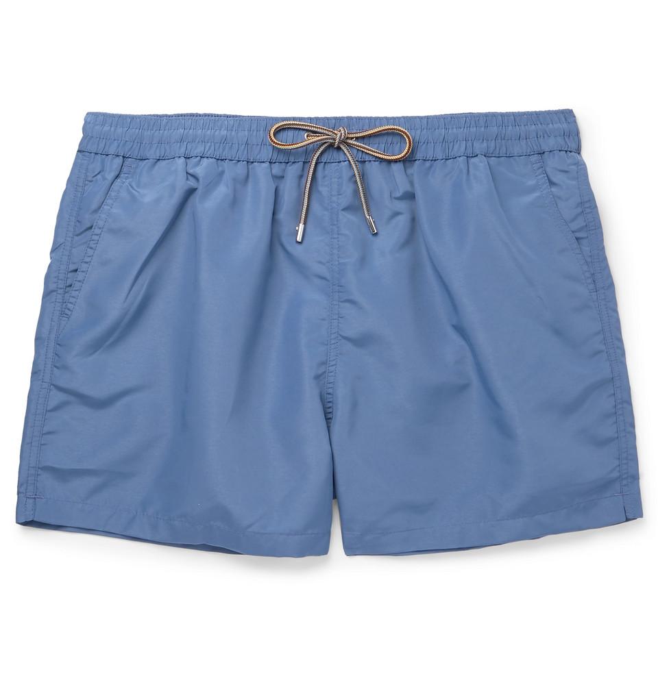 Mid-length Swim Shorts - Blue