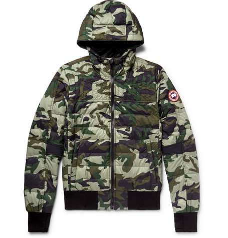 Canada Goose Cabri Slim-Fit Camouflage-Print Quilted Nylon-Ripstop Hooded Down Jacket