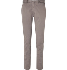 Boglioli Stone Stretch-Cotton Twill Suit Trousers