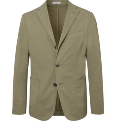 Boglioli Green K-Jacket Unstructured Stretch-Cotton Twill Suit Jacket