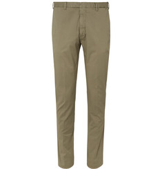 Boglioli - Green Slim-Fit Stretch-Cotton Twill Suit Trousers