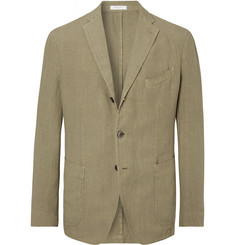 Boglioli - Olive K-Jacket Unstructured Linen Suit Jacket